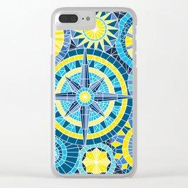 Mosaic Pinwheels Clear iPhone Case