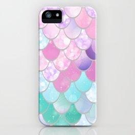 Mermaid Sweet Dreams, Pastel, Pink, Purple, Teal iPhone Case