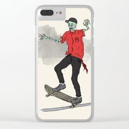 Undead skateboarding Clear iPhone Case