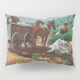 Classical Masterpiece 'Cotton Picking and Loading' by Thomas Hart Benton Pillow Sham