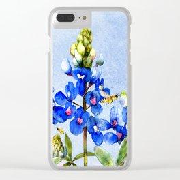 Bluebonnets 3 Clear iPhone Case