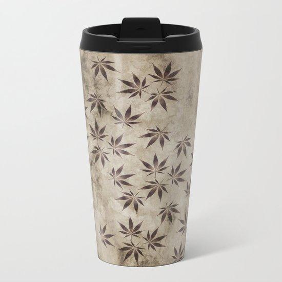 Marijuana Marble Metal Travel Mug