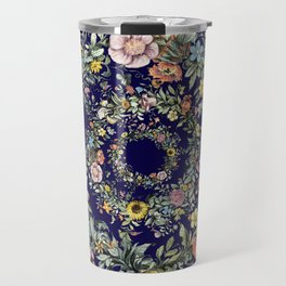 Circle of Life in Navy Blue Travel Mug