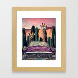 Giraffes are cool too Framed Art Print