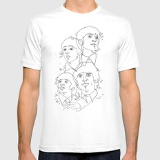 line drawing 001 Mens Fitted Tee MEDIUM White