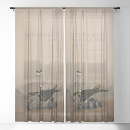Opportunity / First Martian Hero Sheer Curtain