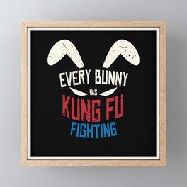 Every Bunny Was Kung Fu Fighting Bunny Framed Mini Art Print