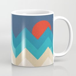 Vintage 70s Adventure on the Mountains Coffee Mug