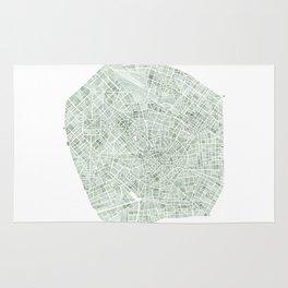 Milan Italy watercolor map Rug