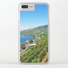 Vineyards of Epesses, Switzerland Clear iPhone Case
