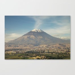 City of Arequipa in Peru with its iconic volcano Misti Canvas Print