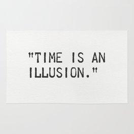 Albert Einstein quote. Time is an illusion Rug