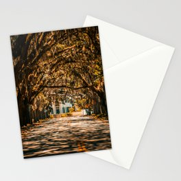 Magnolia Avenue in Fall Stationery Cards