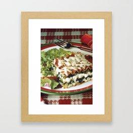 Lasagna Dinner Framed Art Print