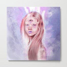 ThirdEye. Out space sensations. Galactic girl. Metal Print