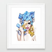 telephone Framed Art Prints featuring Telephone by Denda Reloaded