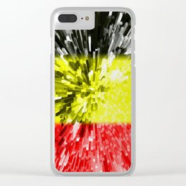 Flag of Belgium Clear iPhone Case