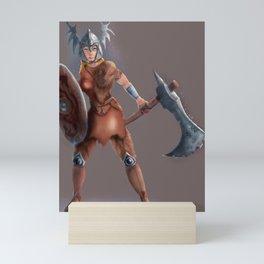 Female Viking Warrior Mini Art Print