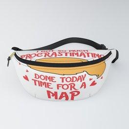 Procrastinators Time for Nap Sweet Kawaii Gift design Fanny Pack