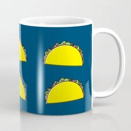 omg tacos! on navy Coffee Mug
