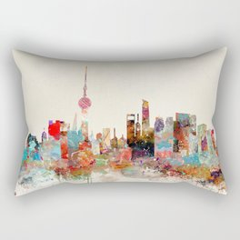 shanghai city skyline Rectangular Pillow