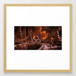Alien station Framed Art Print