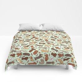 Wiener Dog Wonderland Comforters