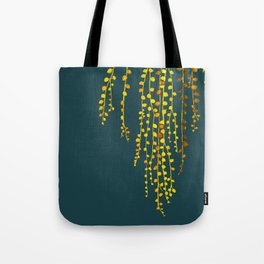 String of pearls #3 in yellow and blue Tote Bag