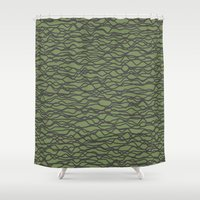wave Shower Curtains featuring Wave by Keagraphics