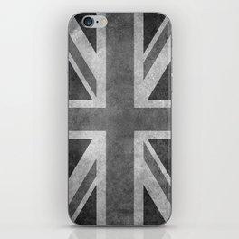British Union Jack flag 1:2 scale retro grunge iPhone Skin