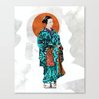 geisha Canvas Prints featuring Geisha by Steve W Schwartz Art
