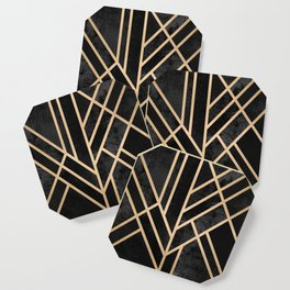 Art Deco Black Coaster
