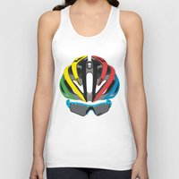 cycling Tank Tops featuring Cycling Face by Pedlin