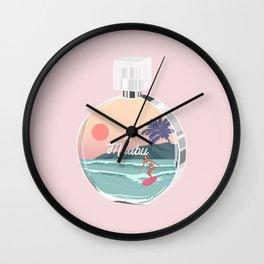 Chance Malibu, perfume bottle art illustration Wall Clock
