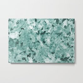Mint Green Crystal Marble Metal Print