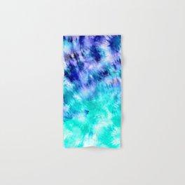 modern boho blue turquoise watercolor mermaid tie dye pattern Hand & Bath Towel
