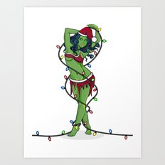 Orion Slave Girl Christmas Art Print