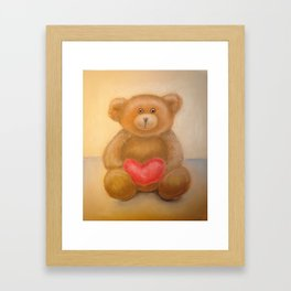 """Teddy Bear"" Toy by pastel Framed Art Print"