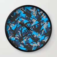 metal gear solid Wall Clocks featuring Metal Gear Rising Revengeance (V1) by ASHPLUS