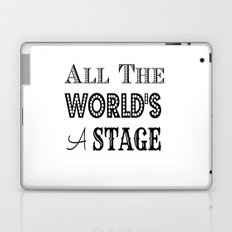 All the world's a stage William Shakespeare Typography Laptop & iPad Skin