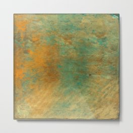 Copper and Turquoise Metal Print
