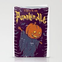 ale giorgini Stationery Cards featuring Pumpkin Ale by Moto