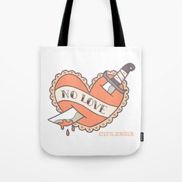 Traditional Tattoo No Love Heart Tote Bag