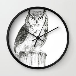 My great horned owl: Nuit Wall Clock