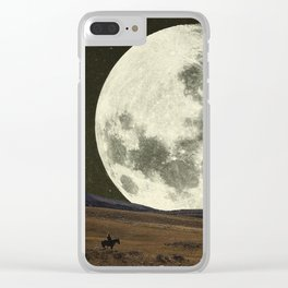 Cowboy Moon Clear iPhone Case