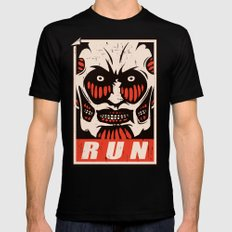 Run Mens Fitted Tee LARGE Black