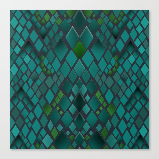Digital graphics snake skin. Canvas Print