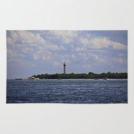 Sanibel Lighthouse at Christmas Rug