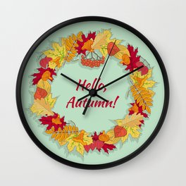 Hello, Autumn! Wall Clock