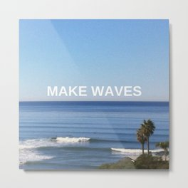 Make Waves Metal Print